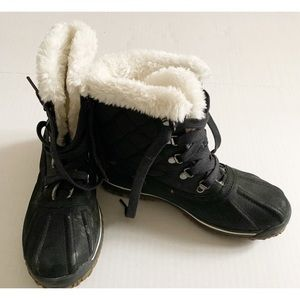 Lands End Faux Fur Boots Size 7